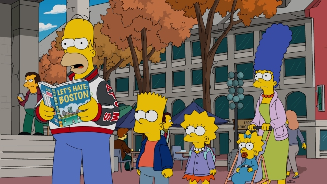 Images From 'The Simpsons' Trip to Boston