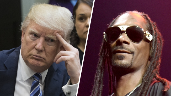 Snoop Dogg Aims Gun at Clown Dressed as Trump in New Video