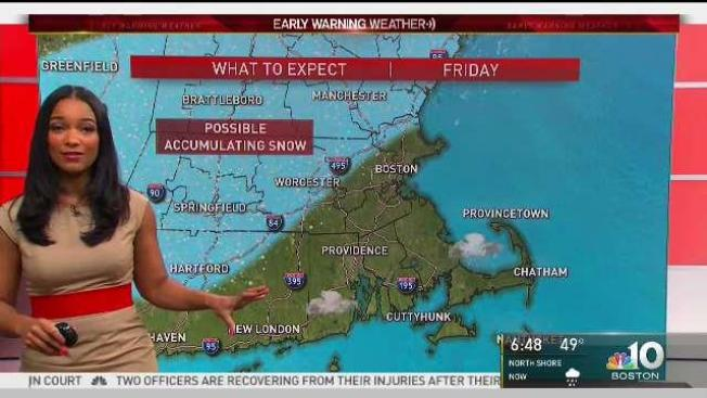 Snow Falls in Parts of Northern New England