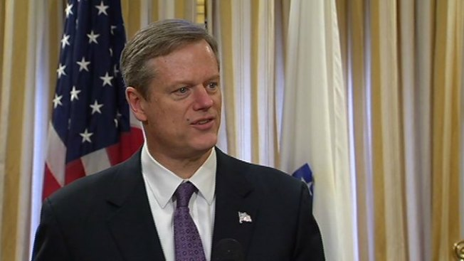 Tree Falls on Police Cruiser Outside Gov. Baker's Home
