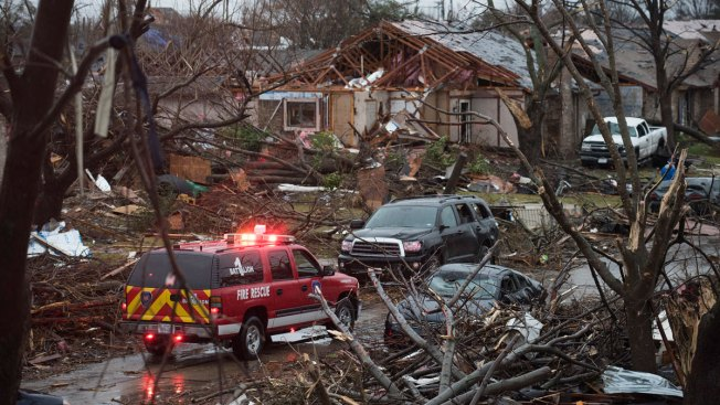 Red Cross Volunteers Helping Tornado, Flooding Victims