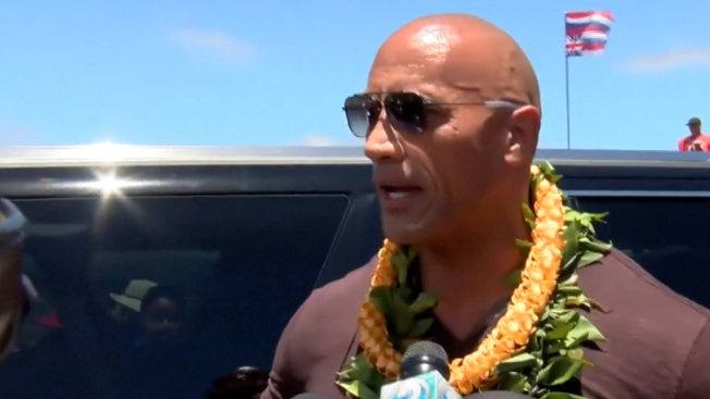 'The Rock' Visits Hawaii Protesters as Envoy Prepares Talks