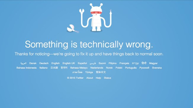 Twitter Briefly Goes Down for Some Users