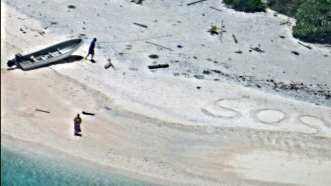 Boaters Rescued From Uninhabited Island After Writing 'SOS' in Sand