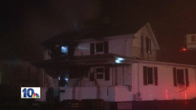 Man, Dog Escape House Fire in Providence; 2 Firefighters Hurt