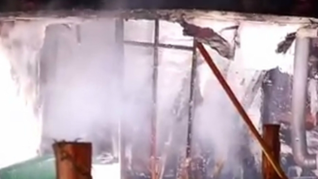 Mobile Home Crushed By Fire in Exeter, Rhode Island; Blaze Sets Off Ammunition