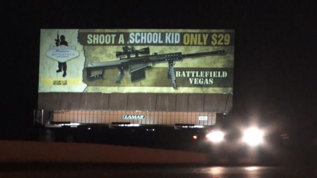 Vandals Alter Las Vegas Gun Range Billboard to Read 'Shoot a School Kid'