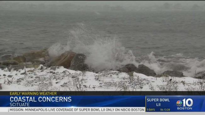 Winter Storm Causes Flooding In Scituate Necn