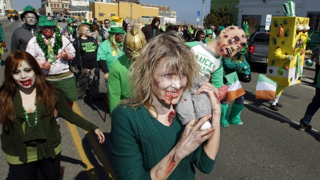 Thousands of 'Zombies' Swarm the Jersey Shore