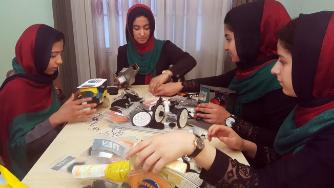 Afghan Girls' Robotics Team Arrives in US