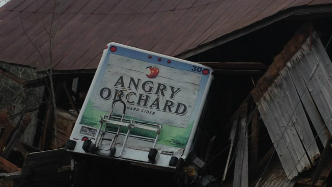 Woman Steals Angry Orchard Truck, Crashes Into Barn in Maine After High-Speed Chase