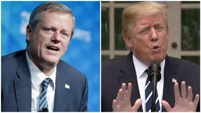 'Shameful and Racist': Massachusetts Gov. Charlie Baker Weighs in on Trump Tweets