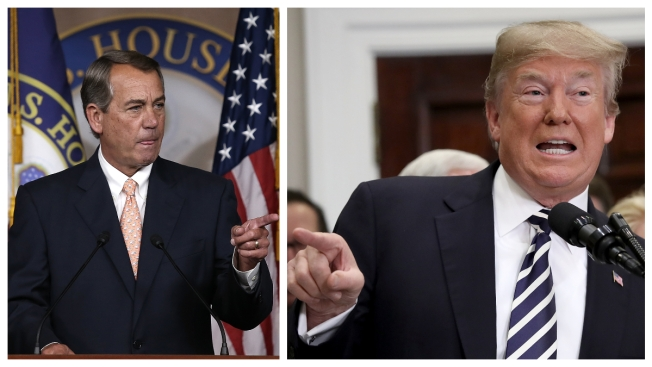 Boehner: With Trump Takeover, GOP Is 'Taking a Nap'