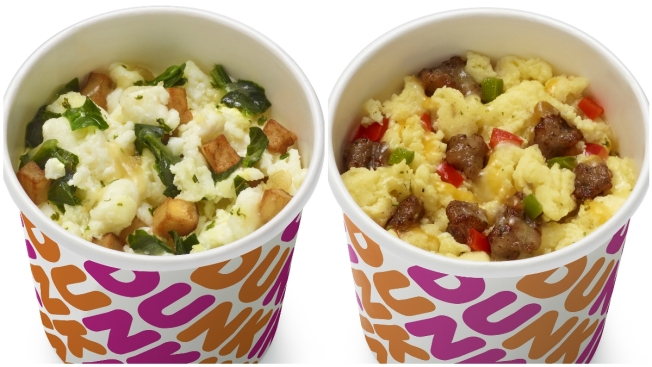 Dunkin' Launches New Breakfast Bowls