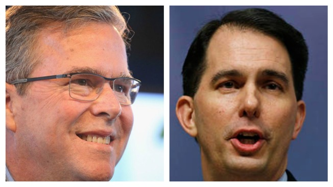 Poll: Jeb Bush, Scott Walker Tied in NH