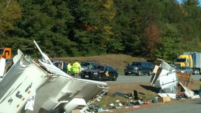 1 Dead, 1 Injured in Camper Crash on I-95 in N.H.