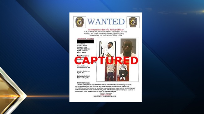 Police Capture Suspect Accused of Firing at Officer in Salem, Massachusetts