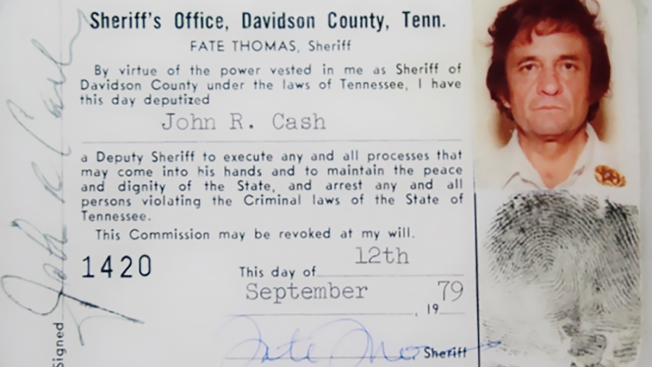 The 'Man in Blue'? Sheriff Donates Johnny Cash Deputy Photo