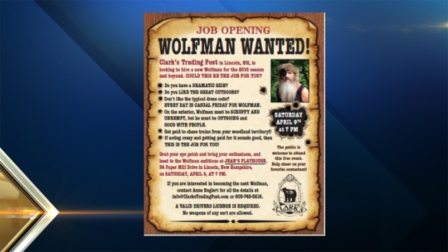WOLFMAN WANTED! Do You Have What it Takes?
