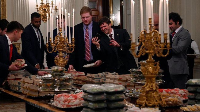 Trump Welcomes Clemson Tigers to the White House With 'American Fast Food Paid for by Me'