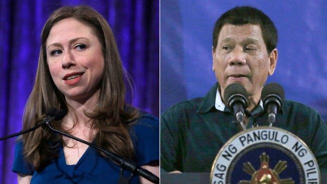 Philippines' Duterte Slams Chelsea Clinton for Rape Joke Criticism Two Days in a Row