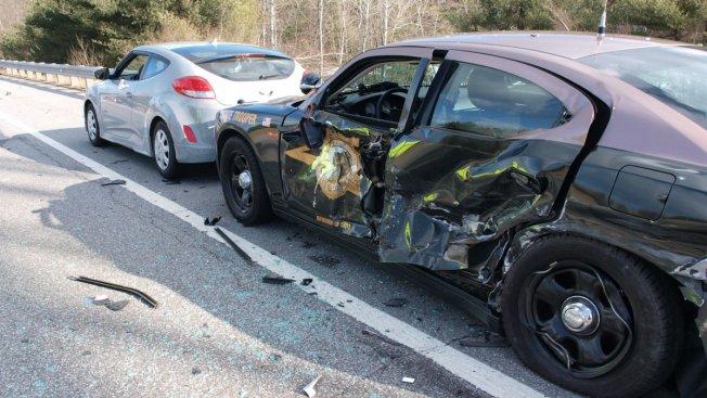 State Trooper Injured in Highway Crash