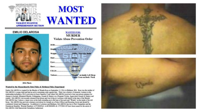 Man Charged With Killing Mother of His Child Added to Most Wanted Fugitives List