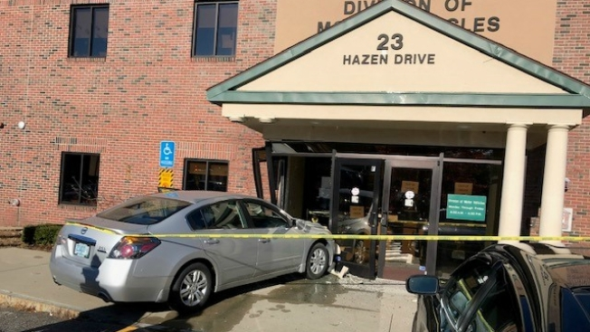 Vehicle Crashes Into Entrance of DMV Office in NH