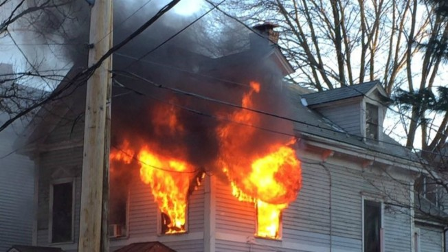 Residents, Dogs Escape 2-Alarm Fire in Jamaica Plain