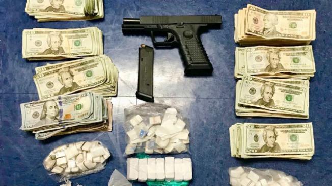 Suspect Shouts 'Baby I'm Going to Jail!' During Drug, Gun Arrest