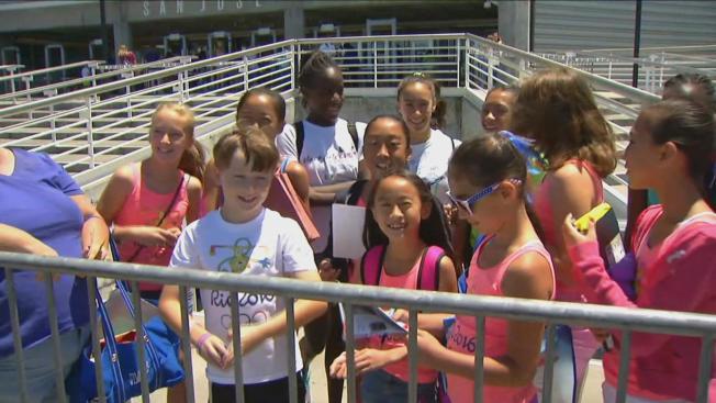 Fans as Anxious as Athletes at Gymnastics Trials