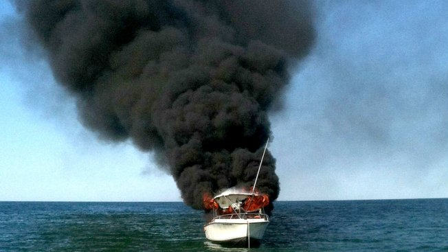 Victim Rescued From Boat Fire