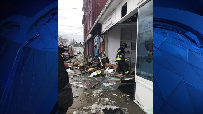 Woman Crashes Car into Building in Natick