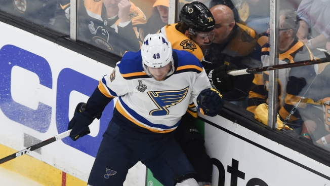 Blues' Ivan Barbashev Suspended One Game for Hit on Bruins' Marcus Johansson