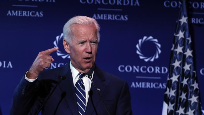 Ex-VP Biden Vows to Stay Involved, But No Talk of Presidency