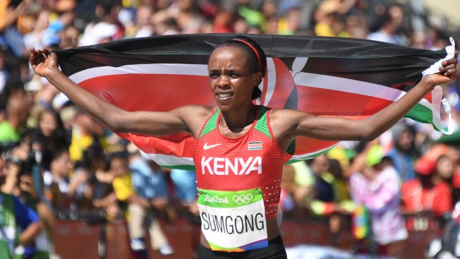 Jemima Jelagat Sumgong Becomes 1st Kenyan Woman to Win Olympic Marathon