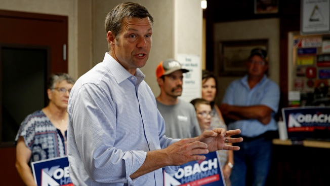 Kansas Governor Concedes to Kobach in Tight GOP Primary
