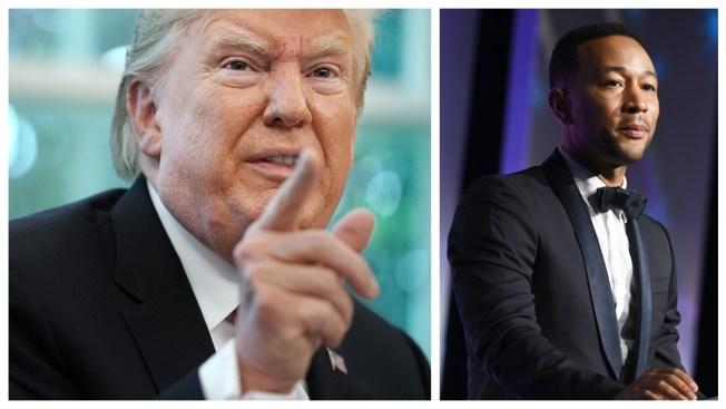 Trump Slams John Legend in Tiff Over Justice Reform