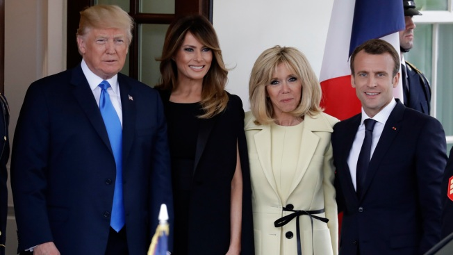 No Ordinary Double Date: Trumps, Macrons at Mount Vernon