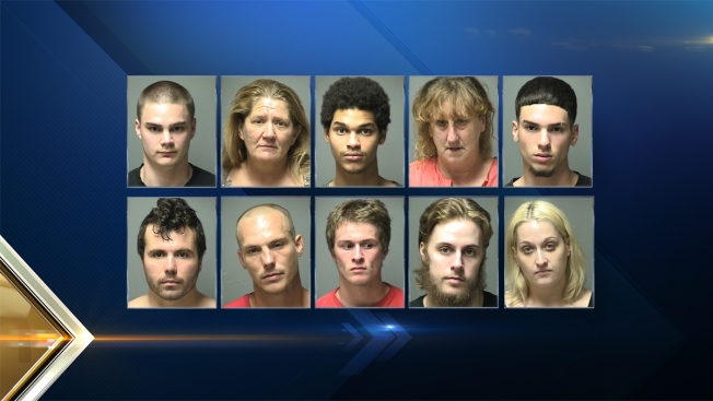 Manchester, New Hampshire, Gang Unit Makes 10 Arrests