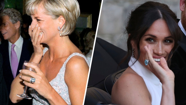Duchess Meghan Wears Princess Diana's Ring to Royal Reception