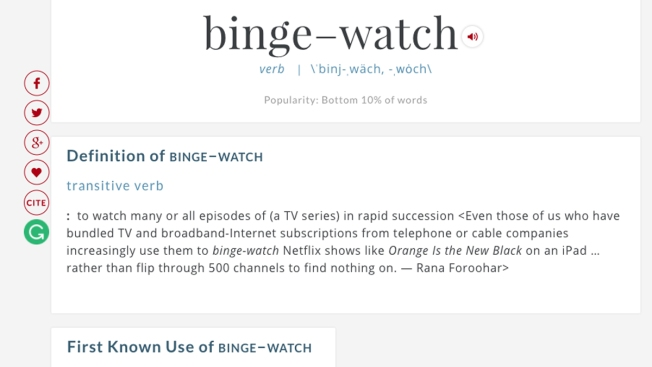 Merriam Webster Makes Binge Watch Official As It Adds 1 000 Words