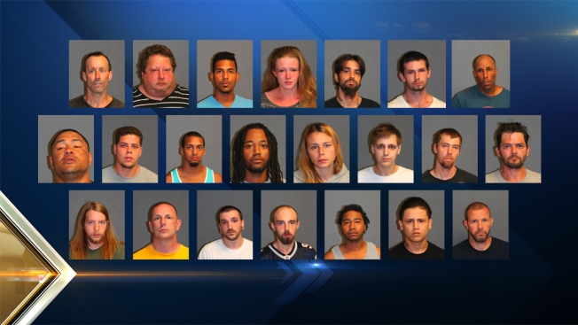 22 Arrested in Nashua, New Hampshire, Drug Sweep