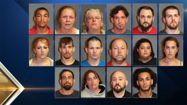 Police in Nashua, New Hampshire, Arrest 16 in Citywide Drug Sweep