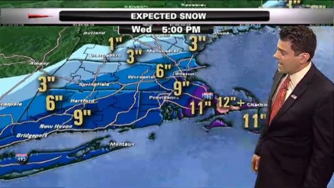 Snowfall Totals Across New England