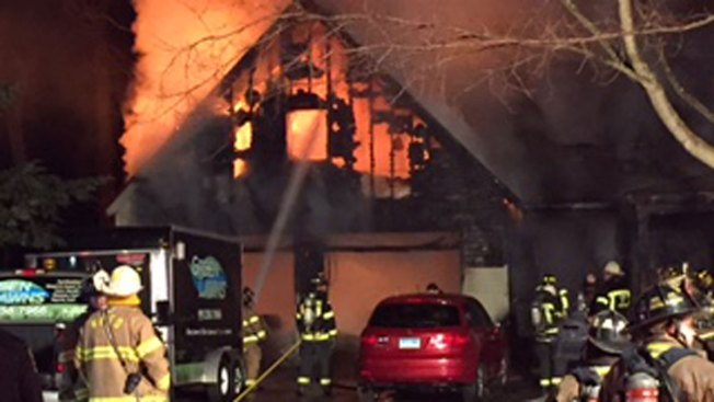 Occupants of New Hartford Home Ablaze Out Safely