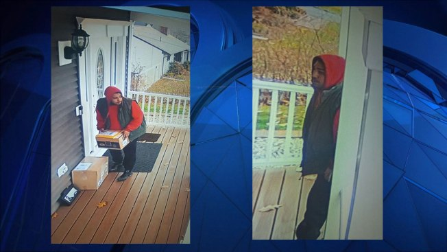Suspect Grabs Packages off Newington Home Porch