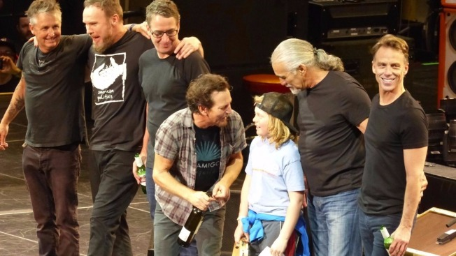Maine Boy Plays on Stage With Pearl Jam