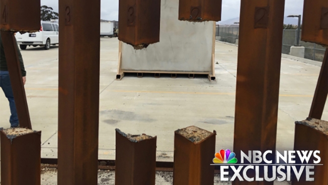 Steel Border Wall Prototype Cut Through With Saw in Test