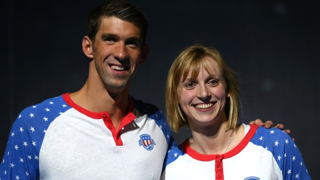 Phelps, Ledecky Recreate Famous Photo From 10 Years Ago